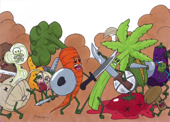 Veggie battle